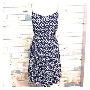 Old Navy blue batik print sundress medium